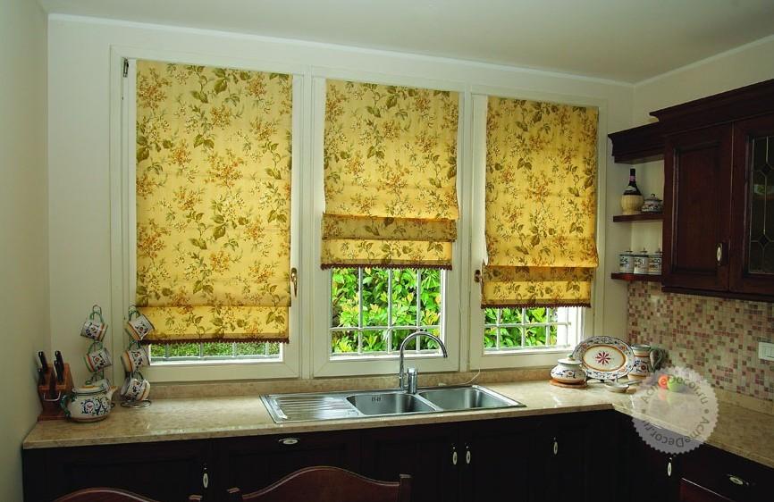 Короткие шторы на кухню  фото галерея оригинальных идей